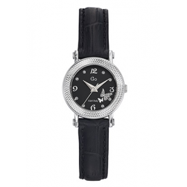 Women's Watch GIRL-ONLY 698593 Zirconated Black Leather Strap