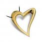 Collana Donna BROSWAY BDE03 Cuore Acciaio placcato in Oro con Diamante