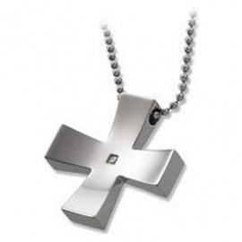 Men's Necklace BROSWAY BCRS1 Cross Stainless Steel