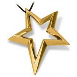 Women's Necklace BROSWAY BSR03 Star Gold Plated Gold with Dimamante