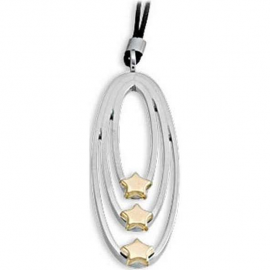 Woman Necklace BROSWAY BAS06 Steel with Gold Stars