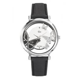 Orologio Donna GIRL-ONLY 698649 Cassa Acciaio Cinturino Pelle Nero