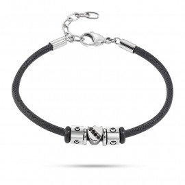 Bracelet with charms man SECTOR jewels SAAL48 ACE in leather and steel