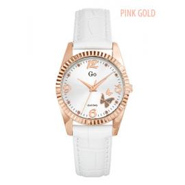 Orologio Donna GIRL-ONLY 698543 Cassa Color Oro Cinturino Pelle Bianco