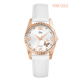 Women's Watch GIRL-ONLY 698543 Color Gold Case White Leather Strap