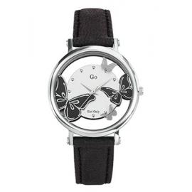 Orologio Donna GIRL-ONLY 698646 Cassa Acciaio Cinturino Pelle Nero