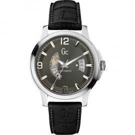 Men's Watch GUESS Collection X84003G5S Steel Case Leather Strap