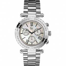 Orologio Donna GUESS Collection I87000L1 Cassa Acciaio con Diamanti Lunetta in Madreperla