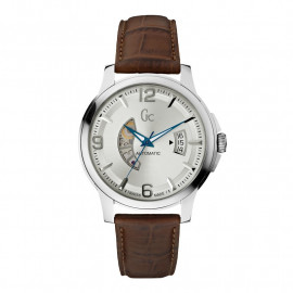 Men's Watch GUESS Collection X84004G1S Steel Case Leather Strap