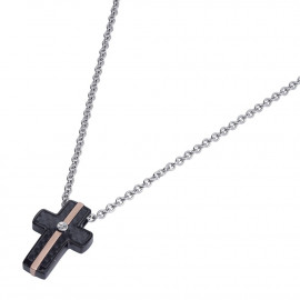 Men's Necklace ROSSOAMANTE UCN253ZG Steel, Carbon Fiber