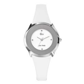 Women's Watch GIRL-ONLY 697966 Steel Case White Leather Strap
