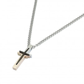 Men's Necklace ROSSOAMANTE UCN216TG Steel and Carbon Fiber