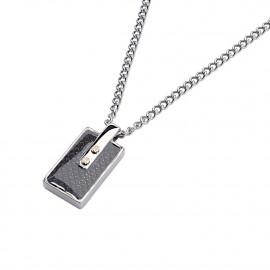 Men's Necklace ROSSOAMANTE UCN266WG Steel and Carbon Fiber