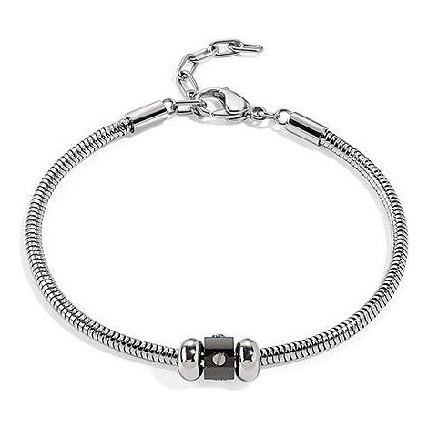 Bracciale con charm uomo SECTOR jewels saal46 ACE in pvd nero