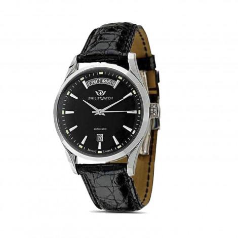 orologio uomo nero PhilipWatch R8221680002 cassa acciaio cint. pelle