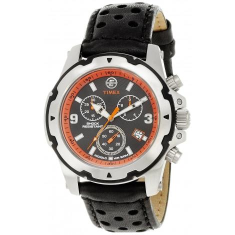Orologio Uomo Crono TIMEX T49782 Cassa in Acciaio Cinturino in Pelle
