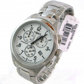 Chronograph Watch Men TIMEX T2M470 Stainless Steel Case and Strap
