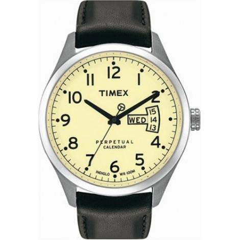 Orologio Uomo TIMEX T2M456 Cassa in Acciaio Cinturino in Pelle