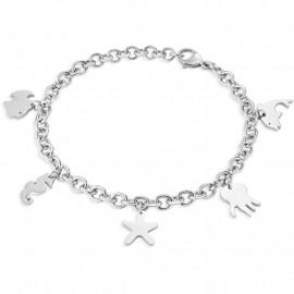 Bracciale donna in acciaio SECTOR jewels SAGI13 NATURE & LOVE con pendenti