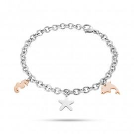 Bracciale donna in acciaio SECTOR jewels SAGI06 NATURE & LOVE con pendenti