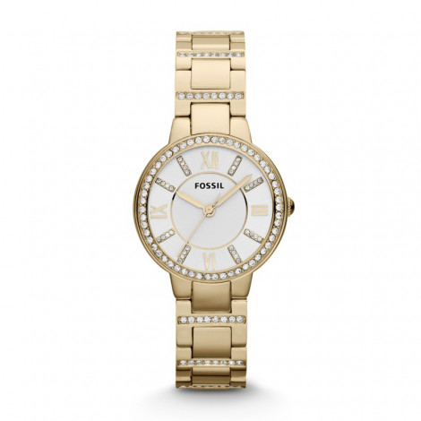 Orologio Donna Bianco FOSSIL ES3283 Cassa e Cinturino in Acciaio Zirconato