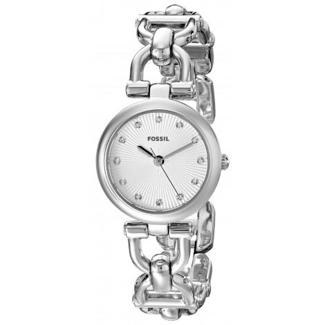 Orologio Donna FOSSIL ES3348 Cassa in Acciaio Zirconata Cinturino in Acciaio