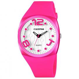 Clock CALYPSO K5633 / 2 Polycarbonate Case Rubber Strap