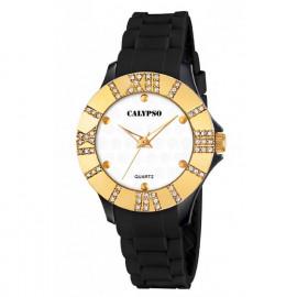 Clock Little Girl CALYPSO K5649 / 5 Steel Case Silicone Strap