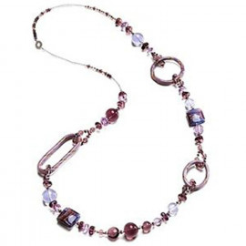 Woman long necklace ANTICA MURRINA CO665A05 BOLERO in metal and glass