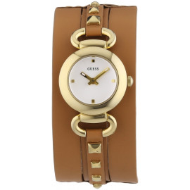 Women's Watch GUESS W0160L4 Steel Case Leather Strap