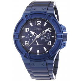 GUESS W0041G2 Men's Watch Blue Stainless Steel Case and Strap