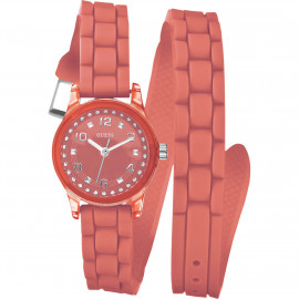 Women's GUESS Watch W65023L4 Polycarbonate Case Silicone Strap