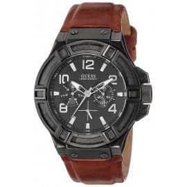 Men's Watch GUESS W0040G8 Steel Case Leather Strap