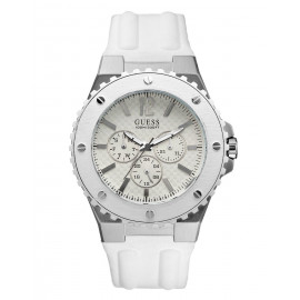 Men's GUESS Watch W10603G1 Steel Case Silicone Strap