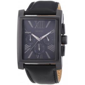 Men's GUESS Watch W0010G2 Steel Case Leather Strap