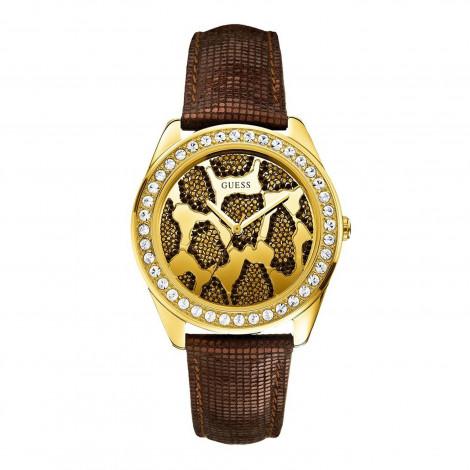 Orologio Donna GUESS W0056L2 Cassa in Acciaio Cinturino in Pelle