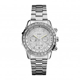 Chronograph Watch Woman GUESS W0016L1 Steel Case and Strap