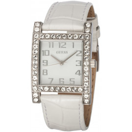 Women's Watch GUESS W0129L1 Steel Case with Crystals Leather Strap