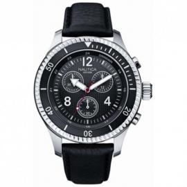Men's Watch NAUTICA A16524G Steel Case Leather Strap