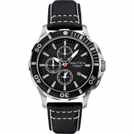 Men's Watch NAUTICA A20109G Steel Case Leather Strap