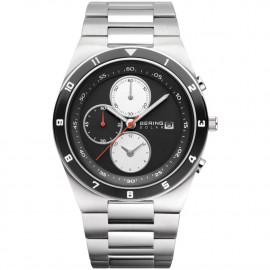 Chronograph Watch Men BERING 34440-702 Steel Case and Strap