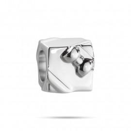 Charm in acciaio MORELLATO SCZ651 DROPS a forma di pacco regalo