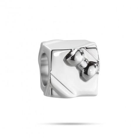 55e5689e57eaae Charm in acciaio MORELLATO SCZ651 DROPS a forma di pacco regalo ...
