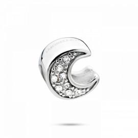 Charm in acciaio MORELLATO SCZS2 DROPS a forma di luna con cristalli