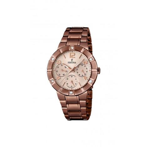 Orologio Donna FESTINA F16710/1 Cassa e Cinturino in Acciaio con Cristalli