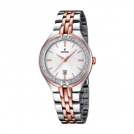 Orologio Donna FESTINA F16868/2 Cassa e Cinturino in Acciaio e Cristalli
