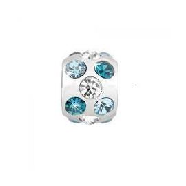Charm in acciaio donna MORELLATO SCZ163 DROPS con cristalli bianchi e celesti