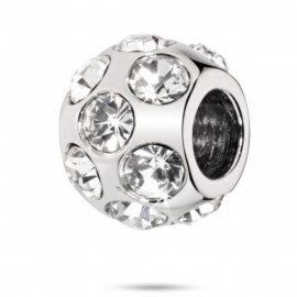 Charm in acciaio donna MORELLATO SCZ42 DROPS con cristalli bianchi