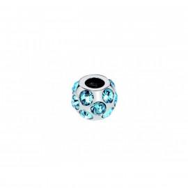 Charm in acciaio donna MORELLATO SCZ38 DROPS con cristalli celesti