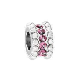Charm in acciaio donna MORELLATO SCZ546 DROPS con cristalli rosa